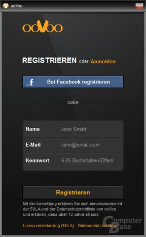 Registrieren oder Anmelden