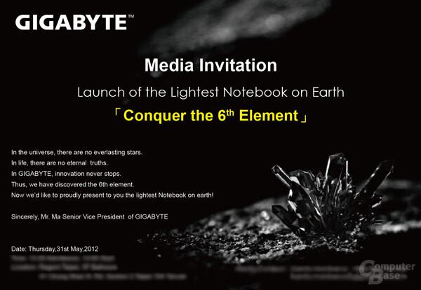 Gigabyte-Einladung