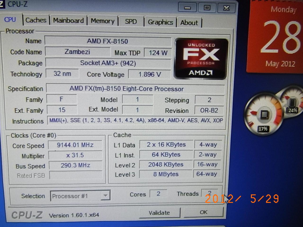AMD FX-8150 bei 9144,01 MHz