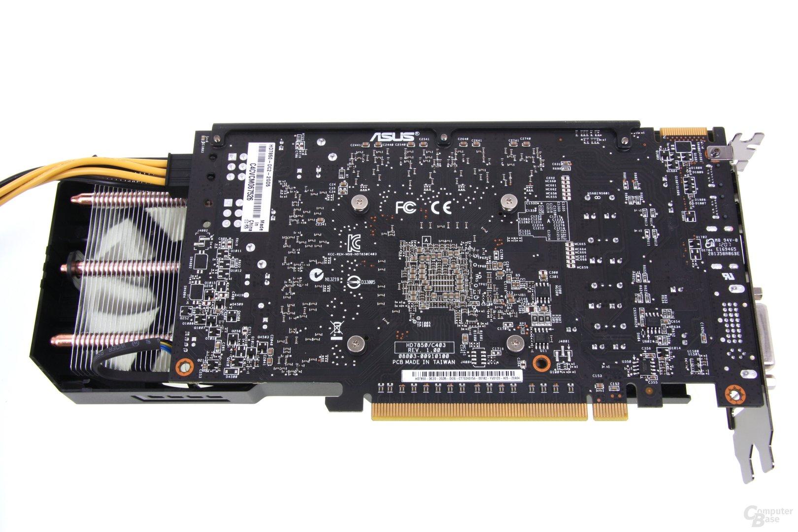 Radeon HD 7850 DCII Rückseite