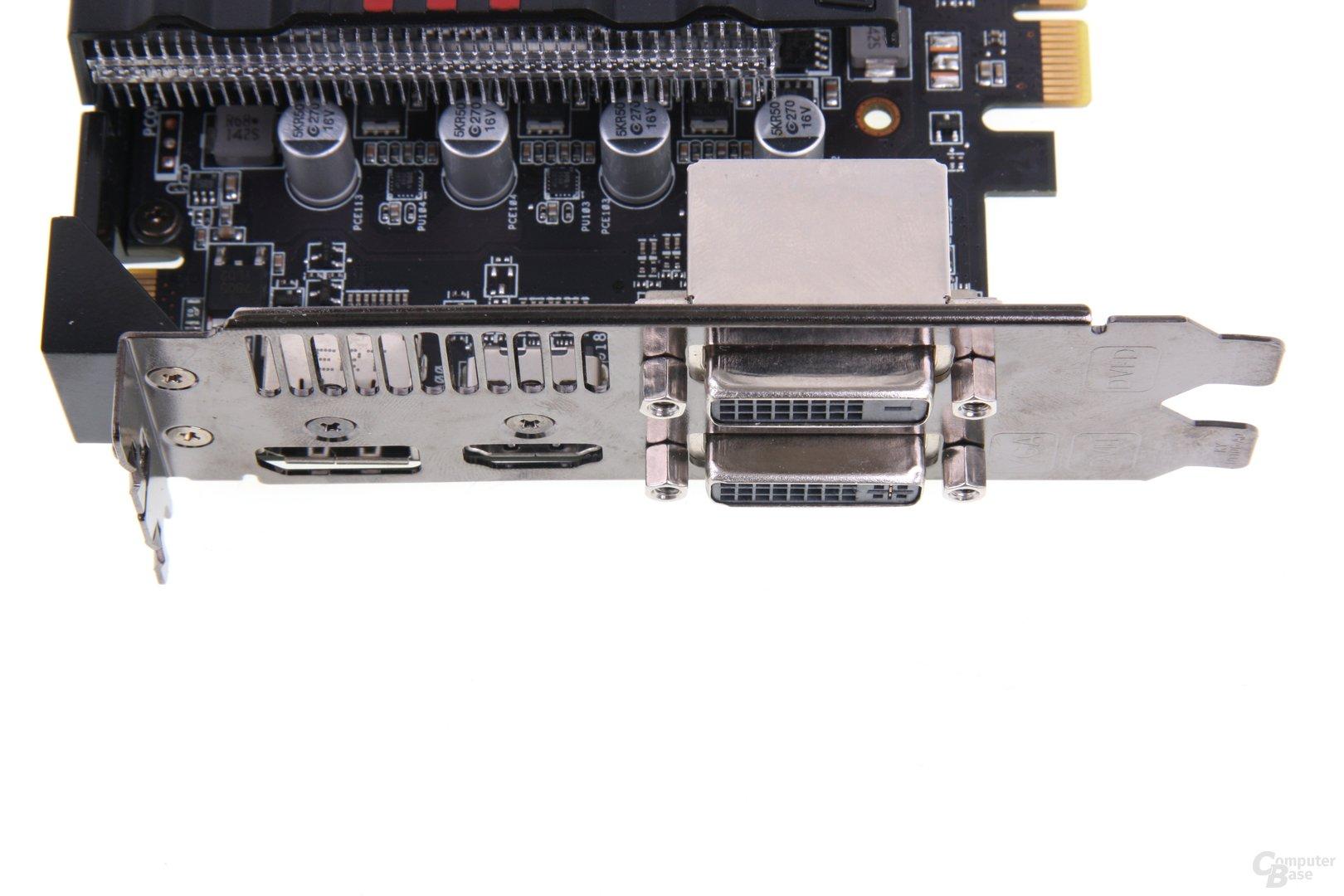 Radeon HD 7870 DCII TOP Anschlüsse