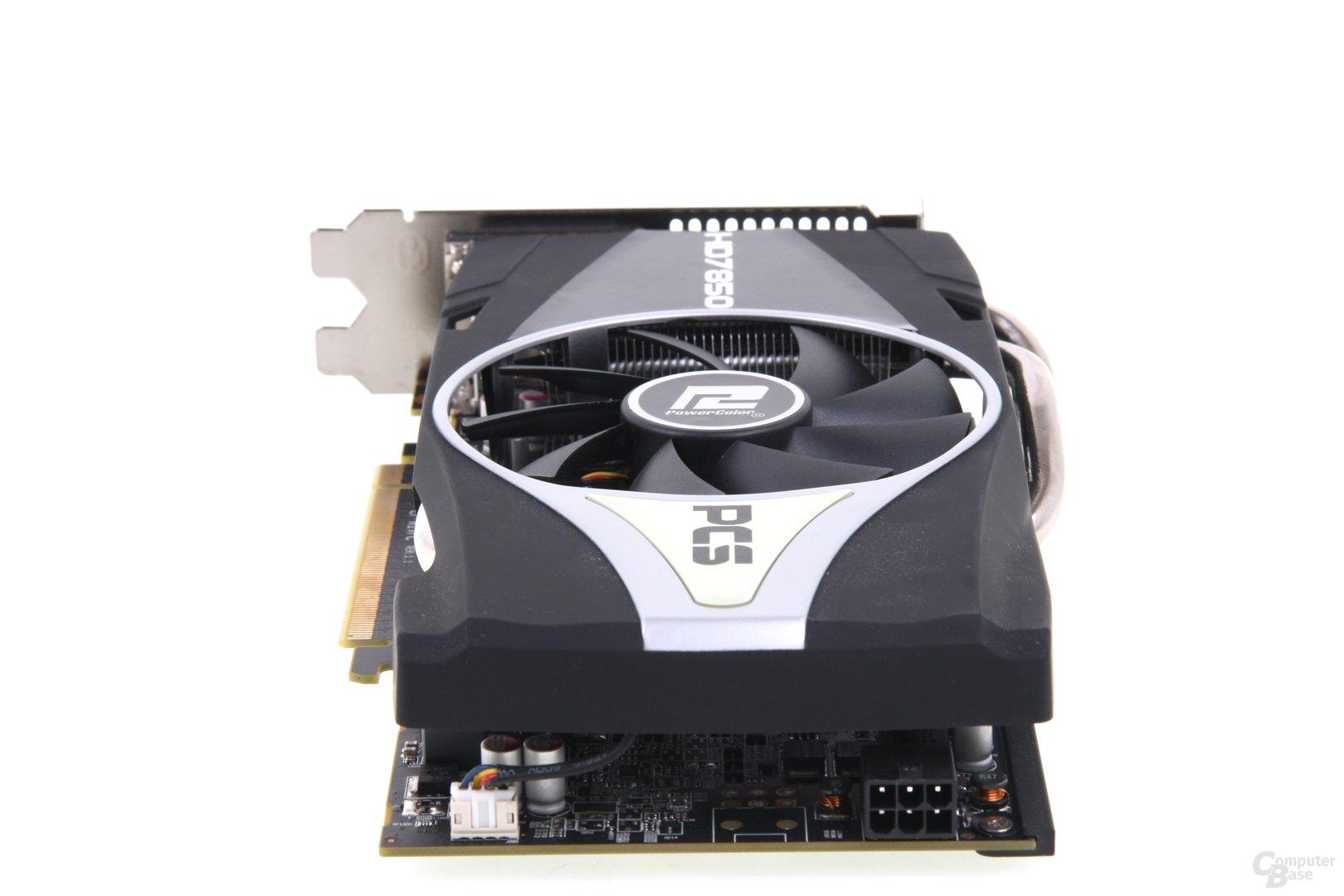 Radeon HD 7850 PCS+ von hinten
