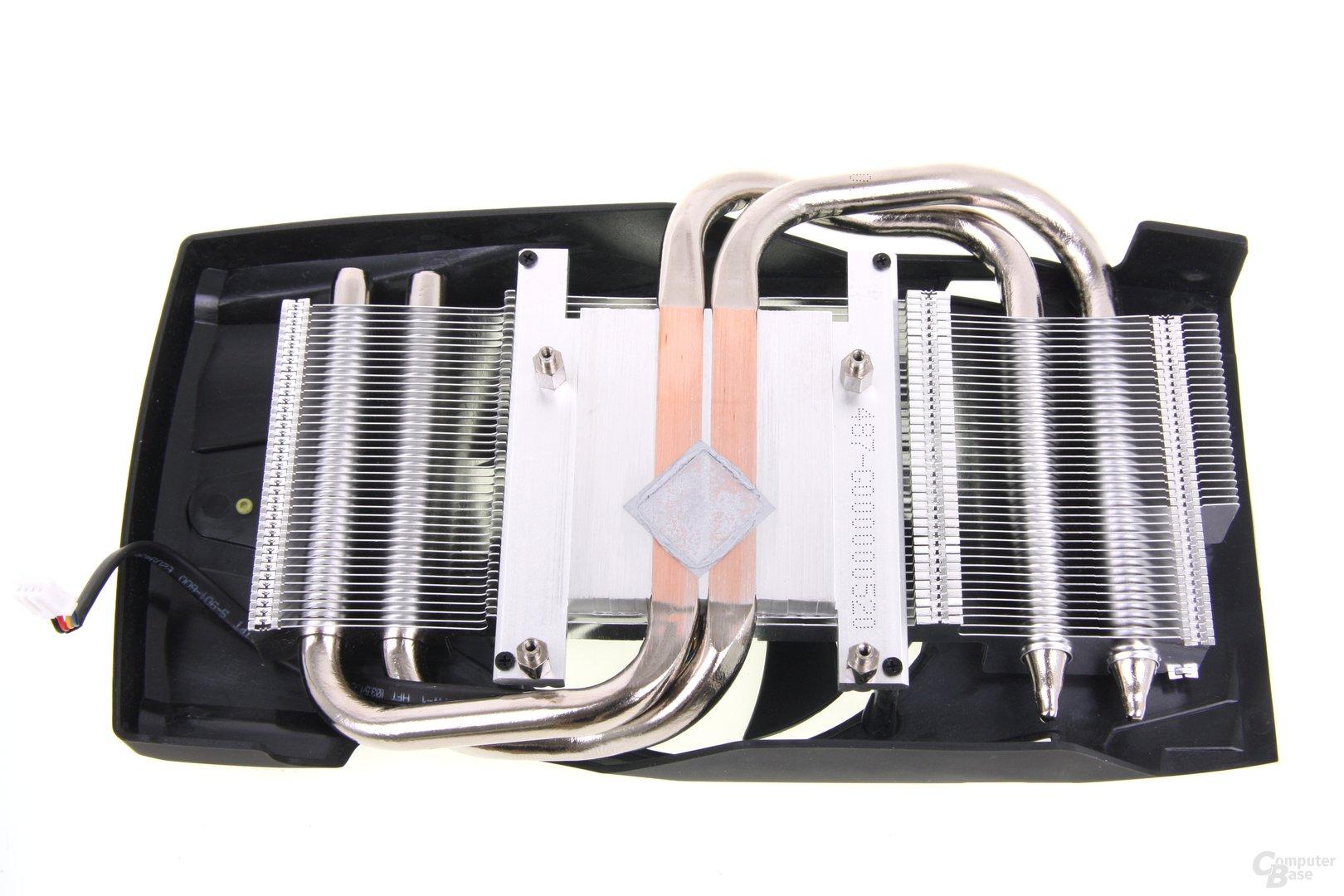 Radeon HD 7850 PCS+ Kühlerrückseite