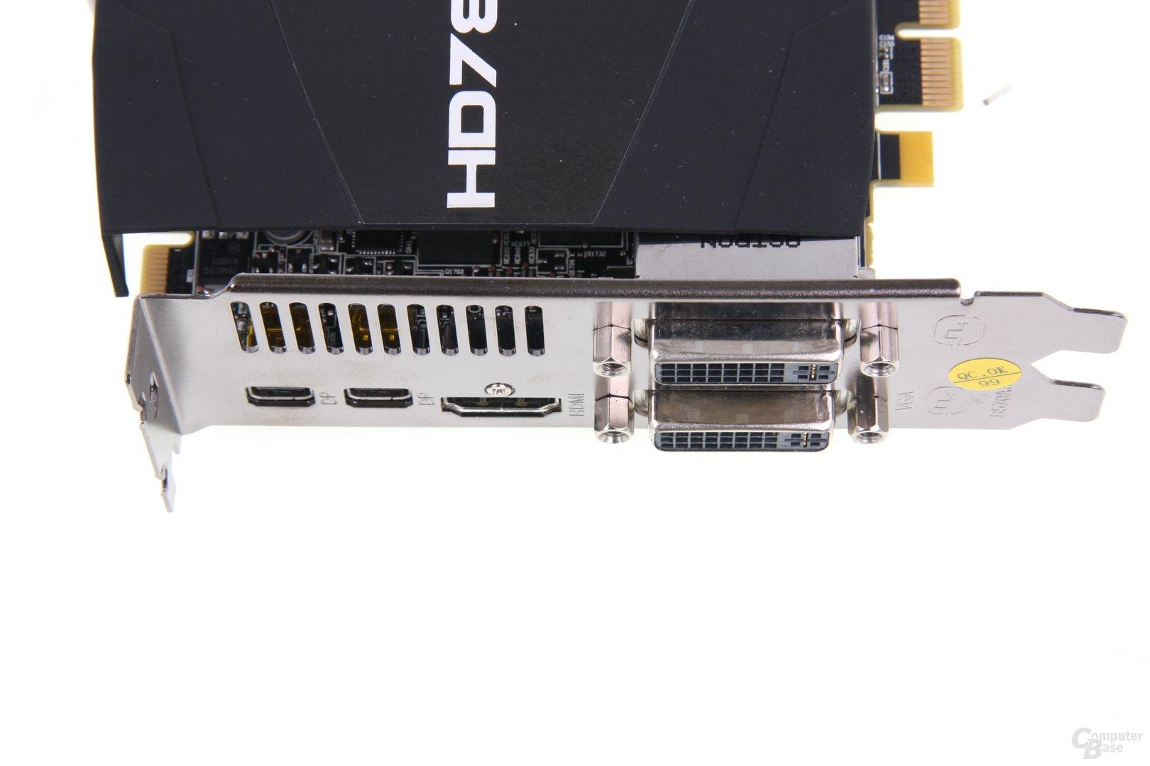 Radeon HD 7870 PCS+ Anschlüsse