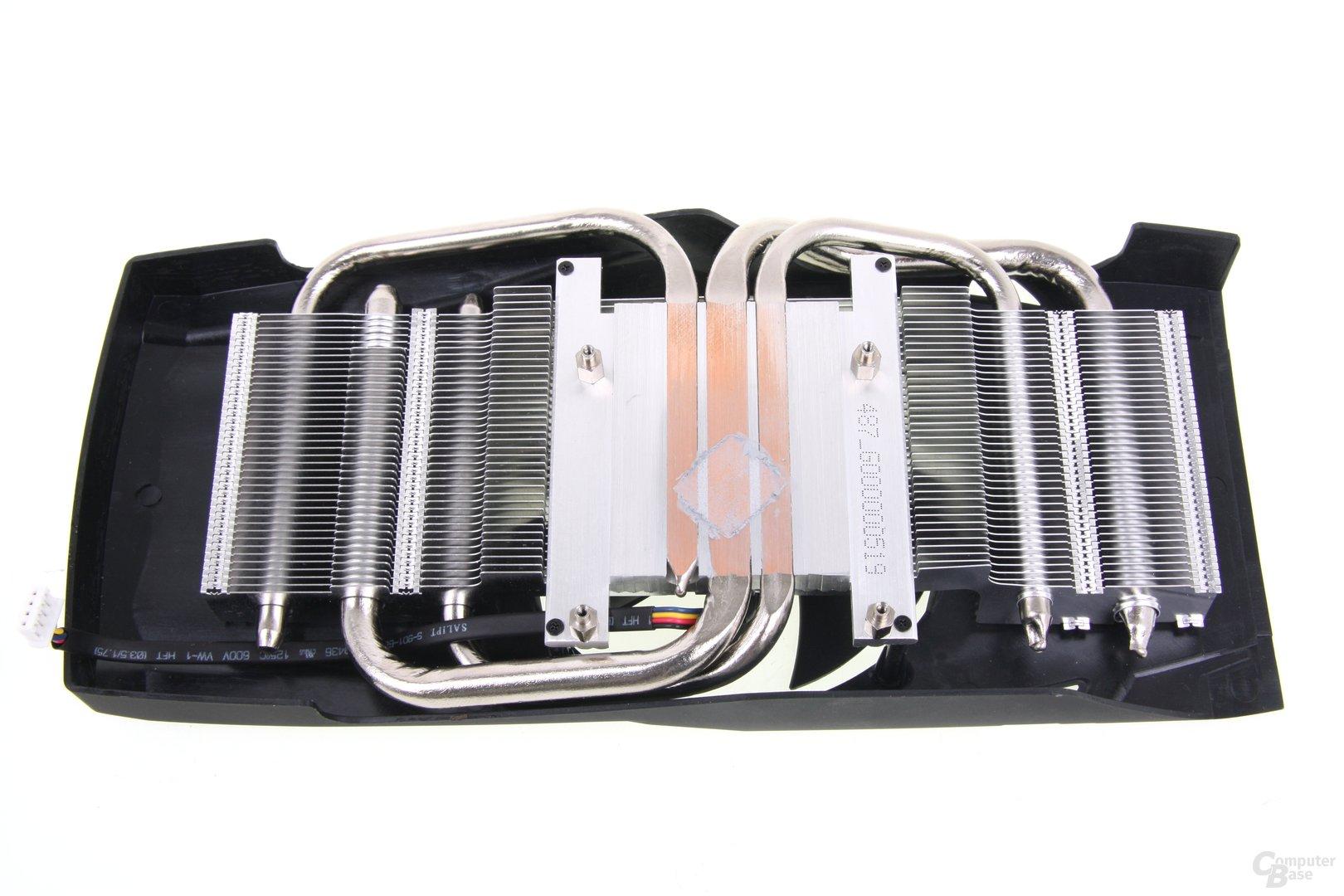 Radeon HD 7870 PCS+ Kühlerrückseite