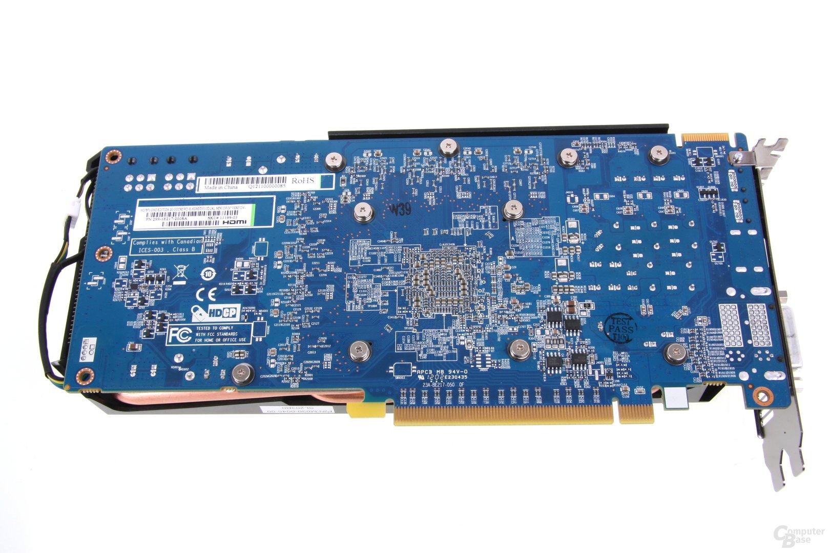 Radeon HD 7870 Rückseite