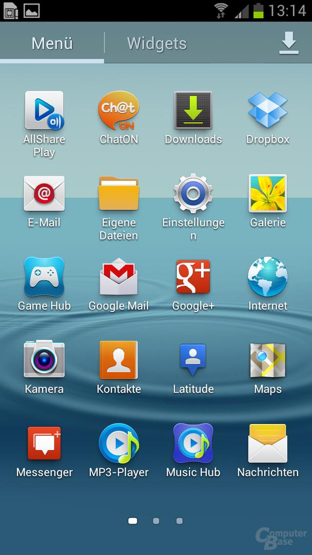 TouchWiz auf dem SGS III