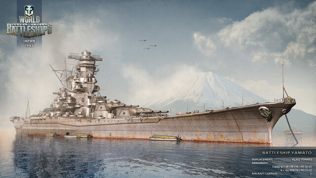World of Battleships - Yamato-Illustration