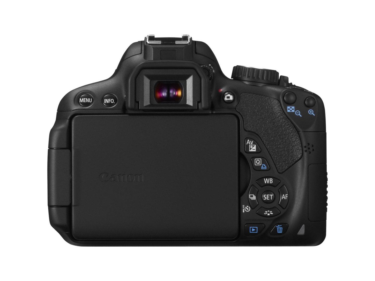 Canon EOS 650D – Rückseite