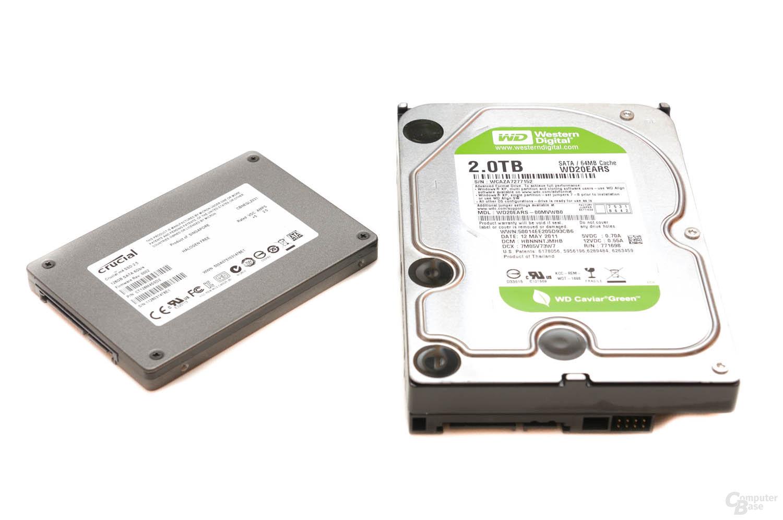 Crucial M4 (128 GB) / Western Digital Caviar Green (2000 GB)