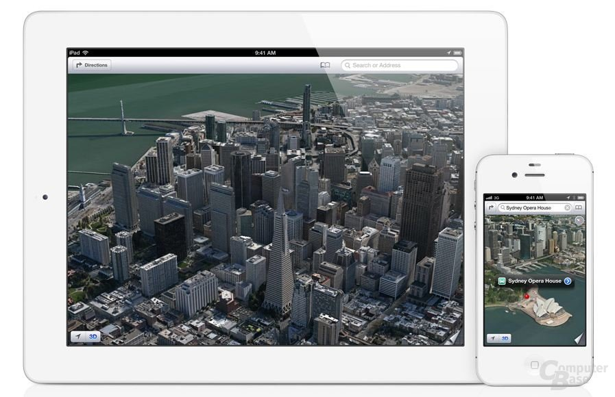 3D-Funktion in Apple Maps