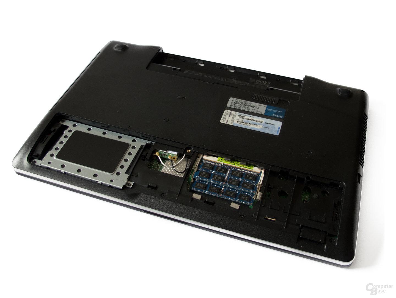 Leicht zugänglich: HDD und RAM