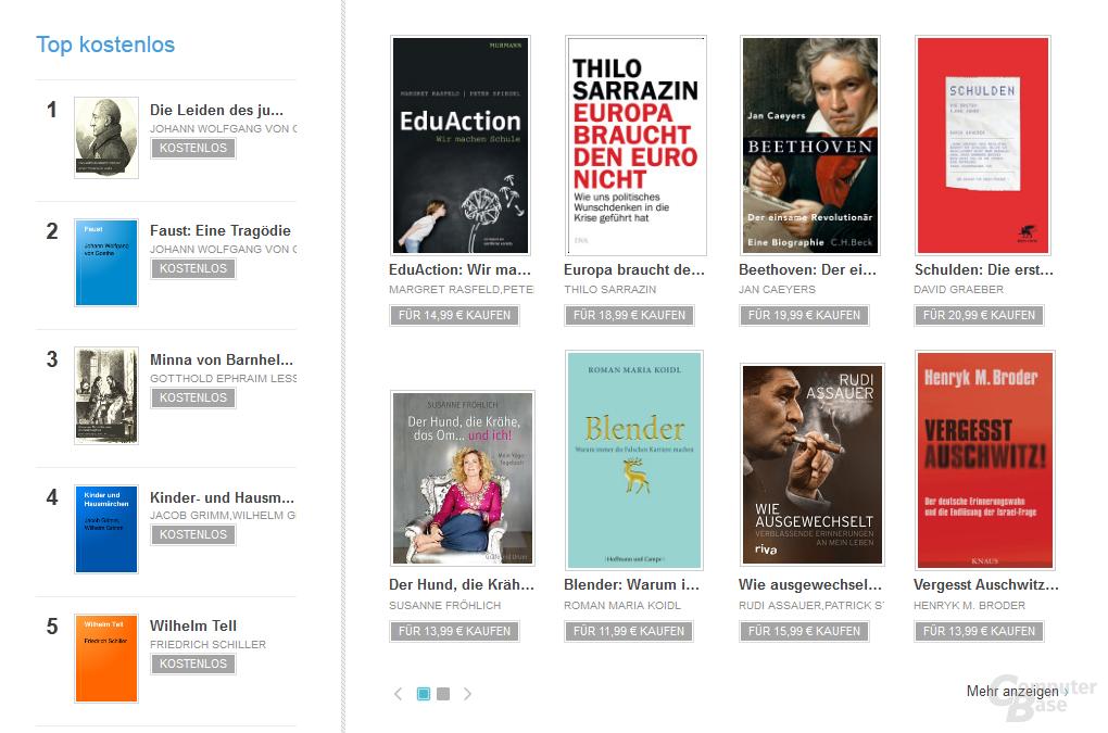 E-Books in Google Play