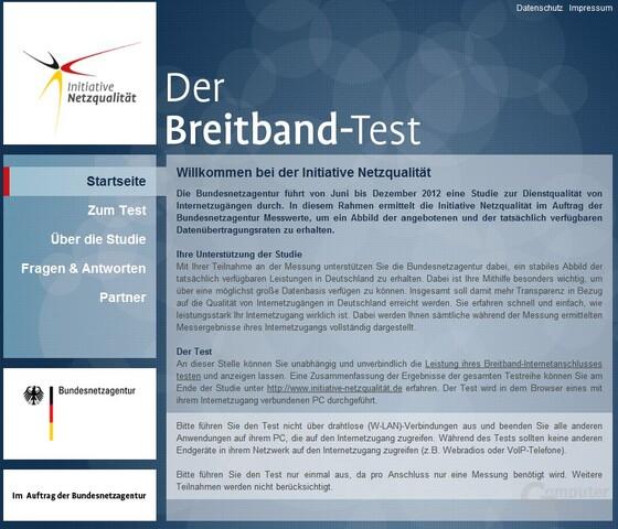 Breitband-Test der Bundesnetzagentur