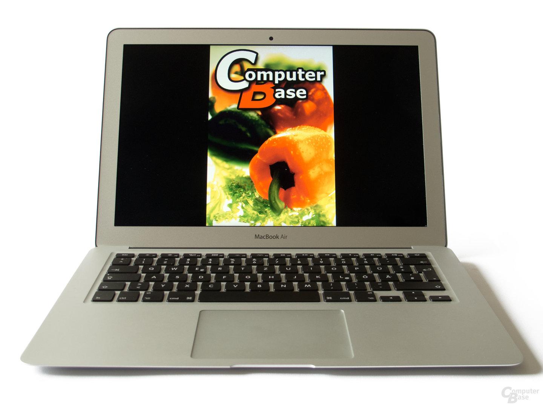 Spiegelndes Display des MacBook Air