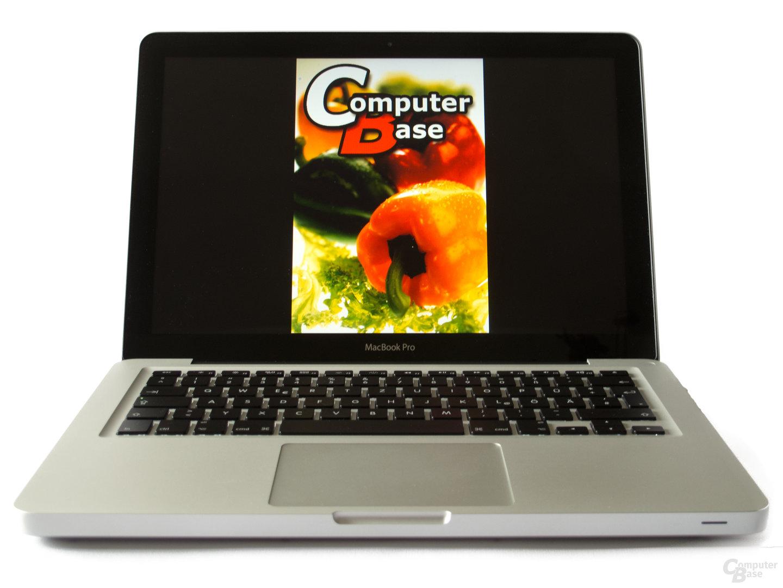 Spiegelndes Display des MacBook Pro