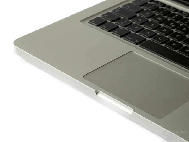 Tastatur und Touchpad des MacBook Pro