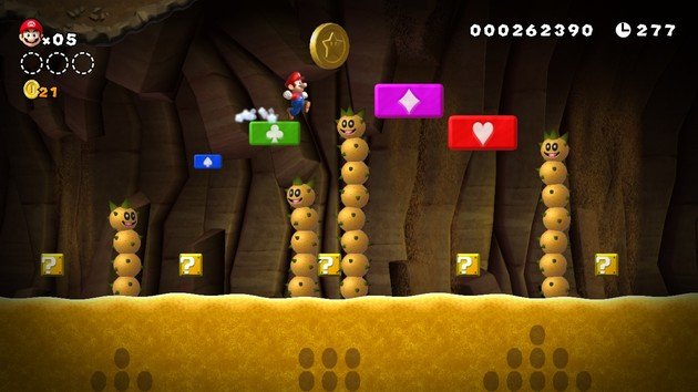 Hilfestellung in New Super Mario Bros. U