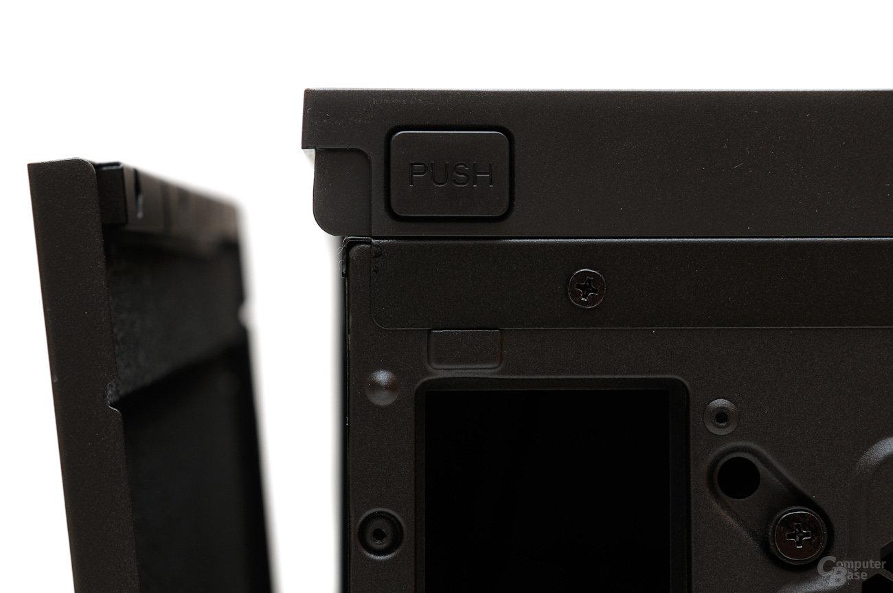 Corsair Obsidian 550D – Schließsystem der Seitenwände