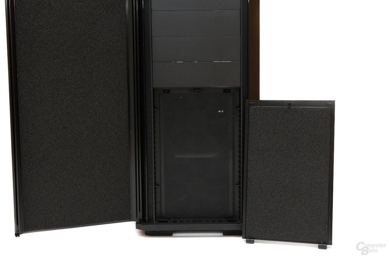 Corsair Obsidian 550D – Magnetisch befestigter Staubfilter und Dämmung
