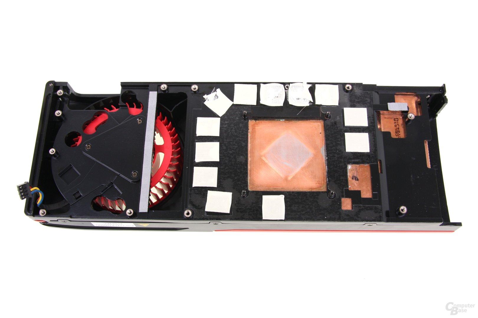 Radeon HD 7970 GHz Edition Kühlerrückseite