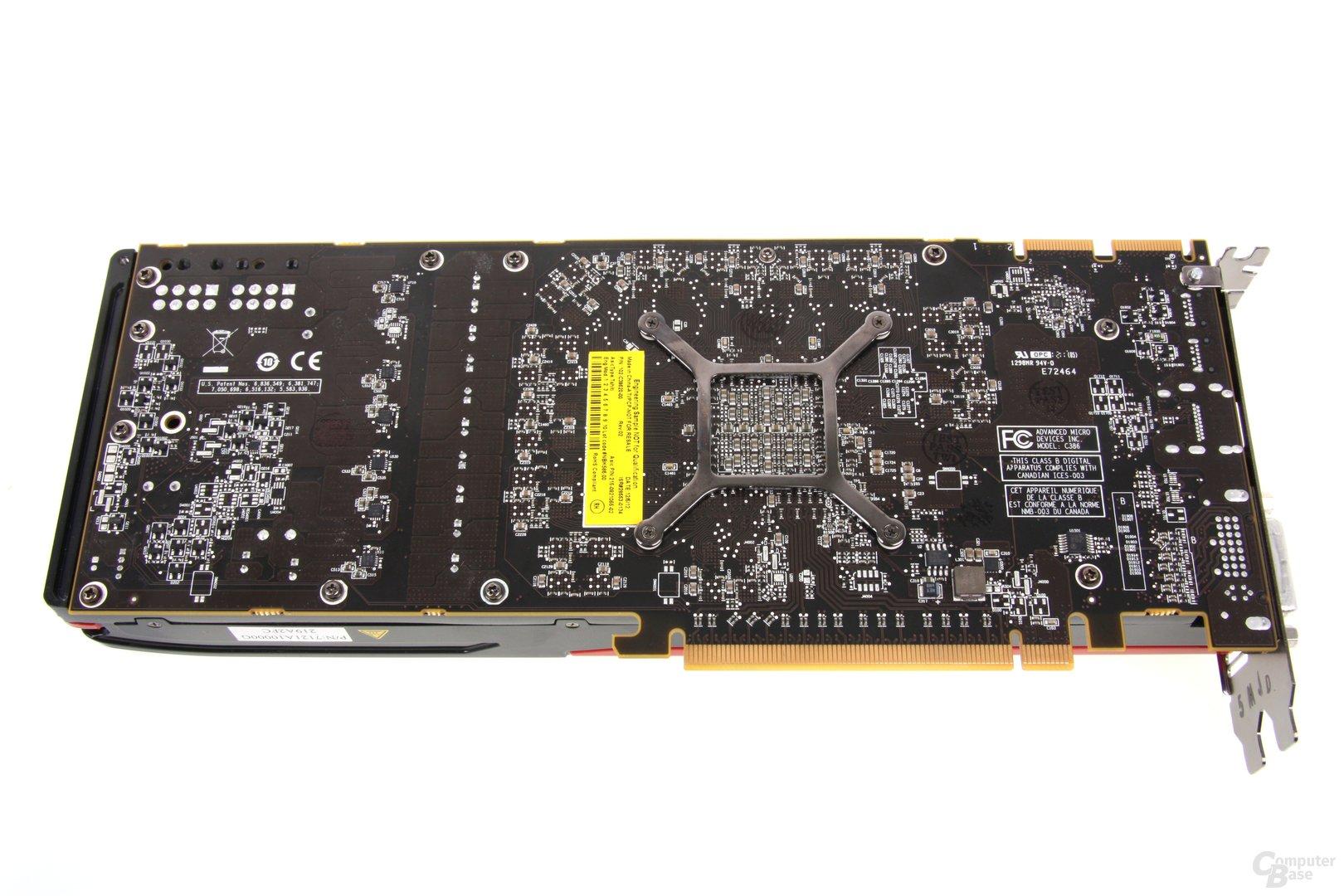 Radeon HD 7970 GHz Edition Rückseite