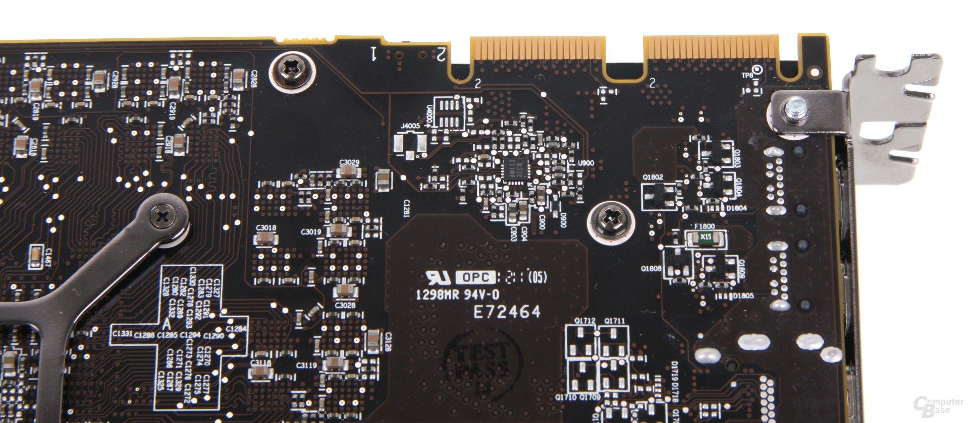 Radeon HD 7970 GHz Edition CF-Anschlüsse