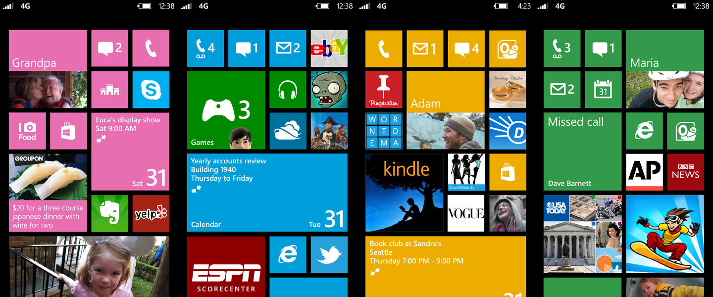 Windows Phone 8: Neuer Startscreen