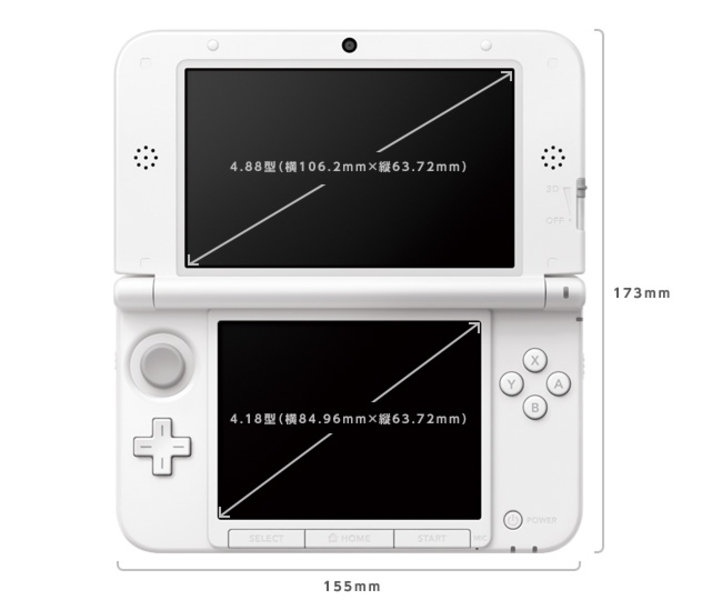 Nintendo 3DS XL: Display-Größen