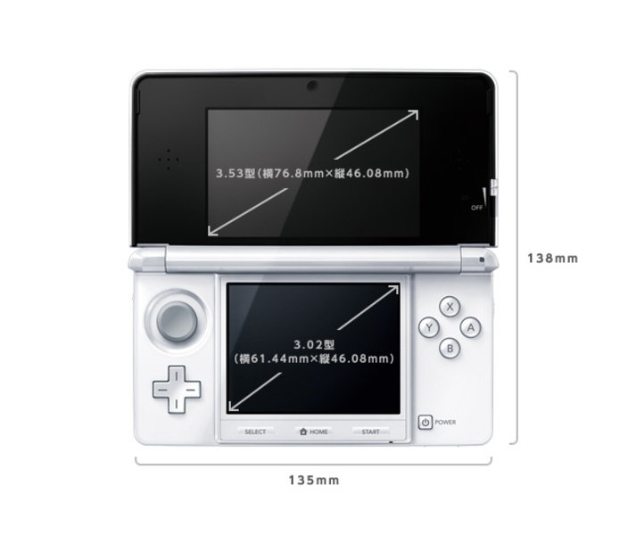 Nintendo 3DS: Display-Größen