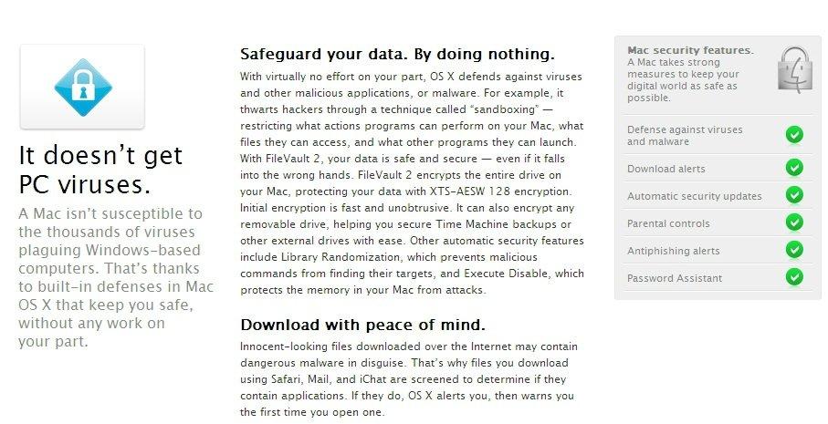 Apple Mac OS X - alte Beschreibung
