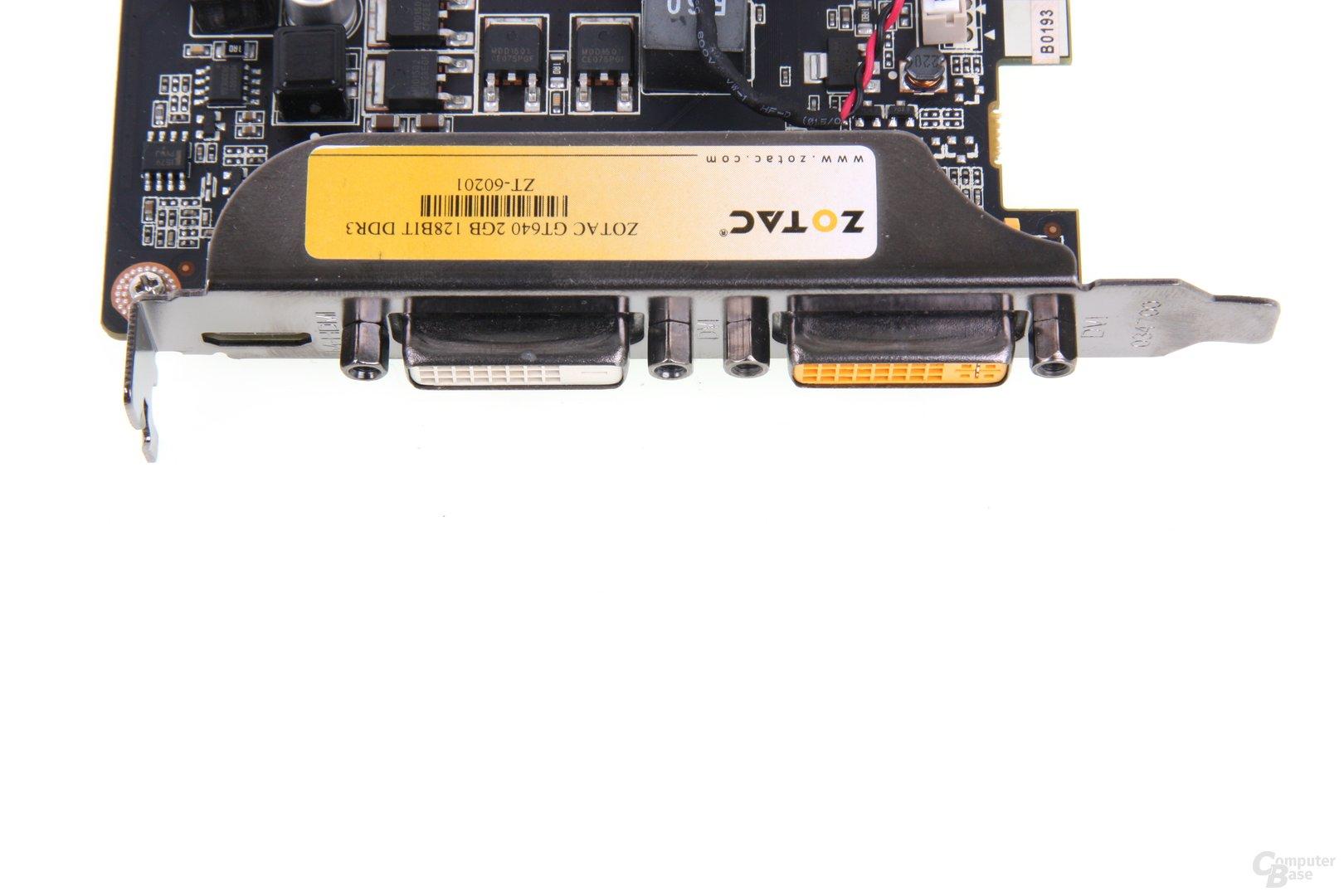 GeForce GT 640 Anschlüsse