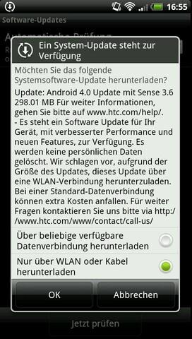 Android 4.0 für das HTC Evo 3D