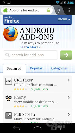 Mozilla Firefox 14 für Android