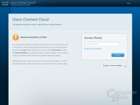 Router-Startseite ohne Internetverbindung