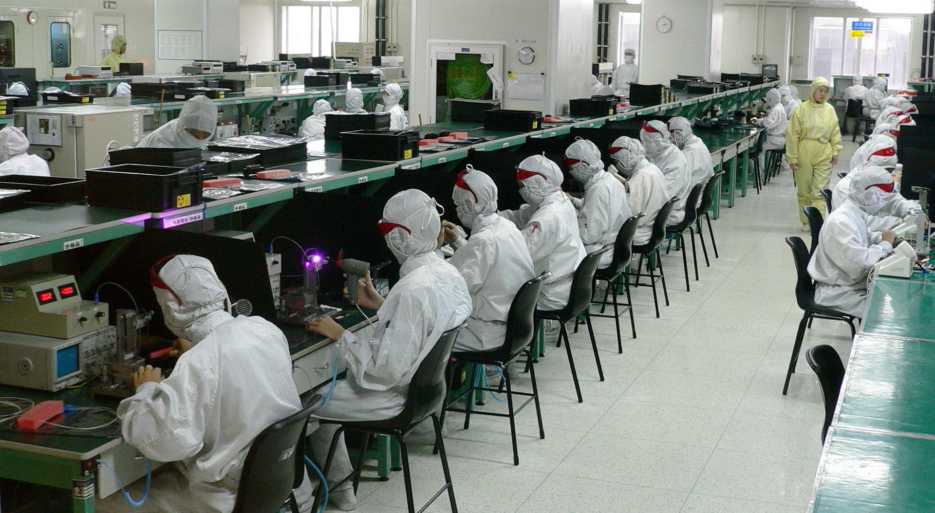 Foxconn Fabrik in Shenzhen, China