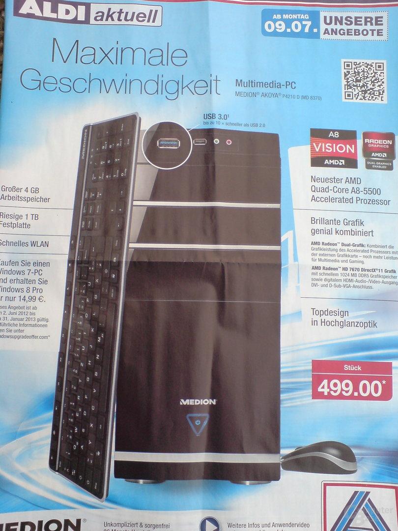 Medion Akoya P4210 D (MD 8370) mit AMD A8-5500