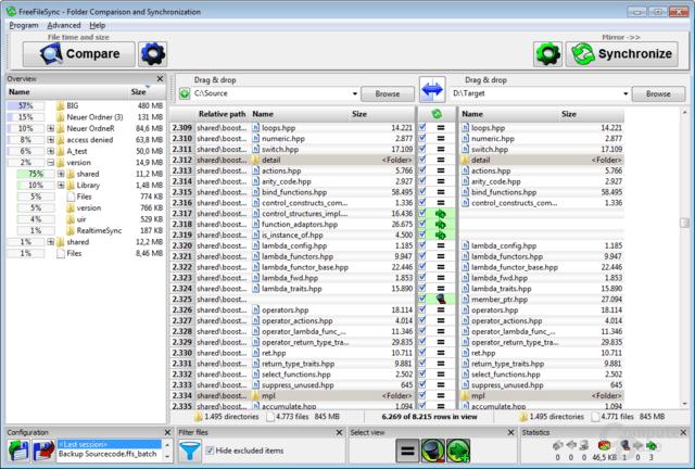 Folder Comparison and Synchronization