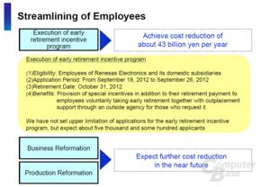 Renesas-Pläne für Mitarbeiter