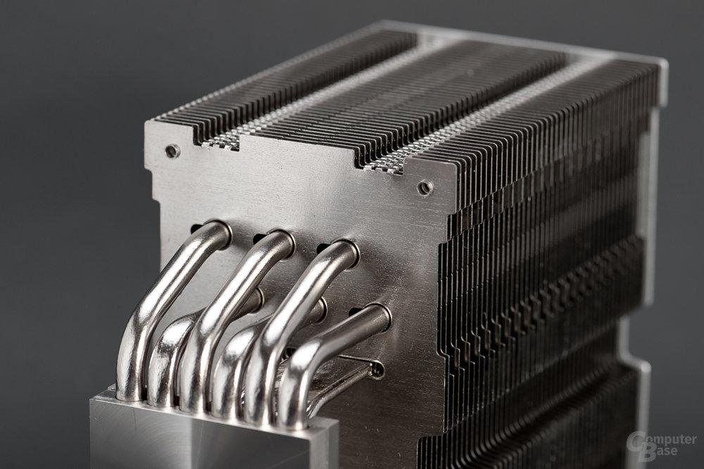 Sechs Heatpipes und zwei Vertikalkammern kombiniert