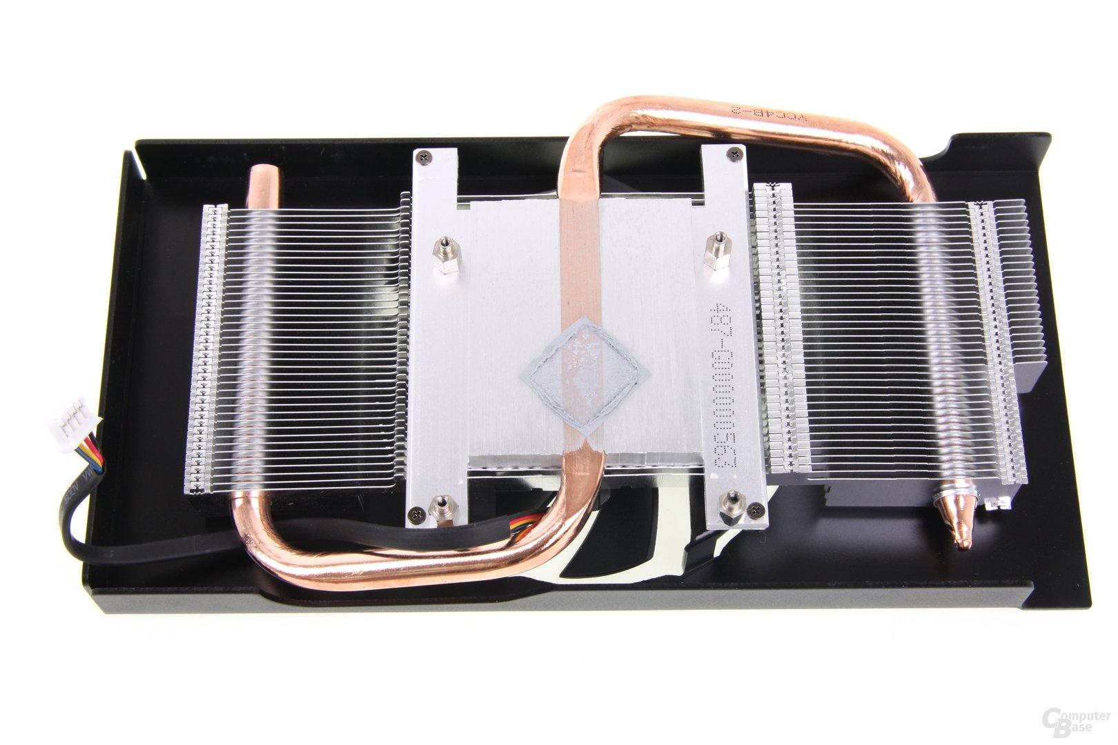 Radeon HD 7850 royalQueen Kühlerrückseite