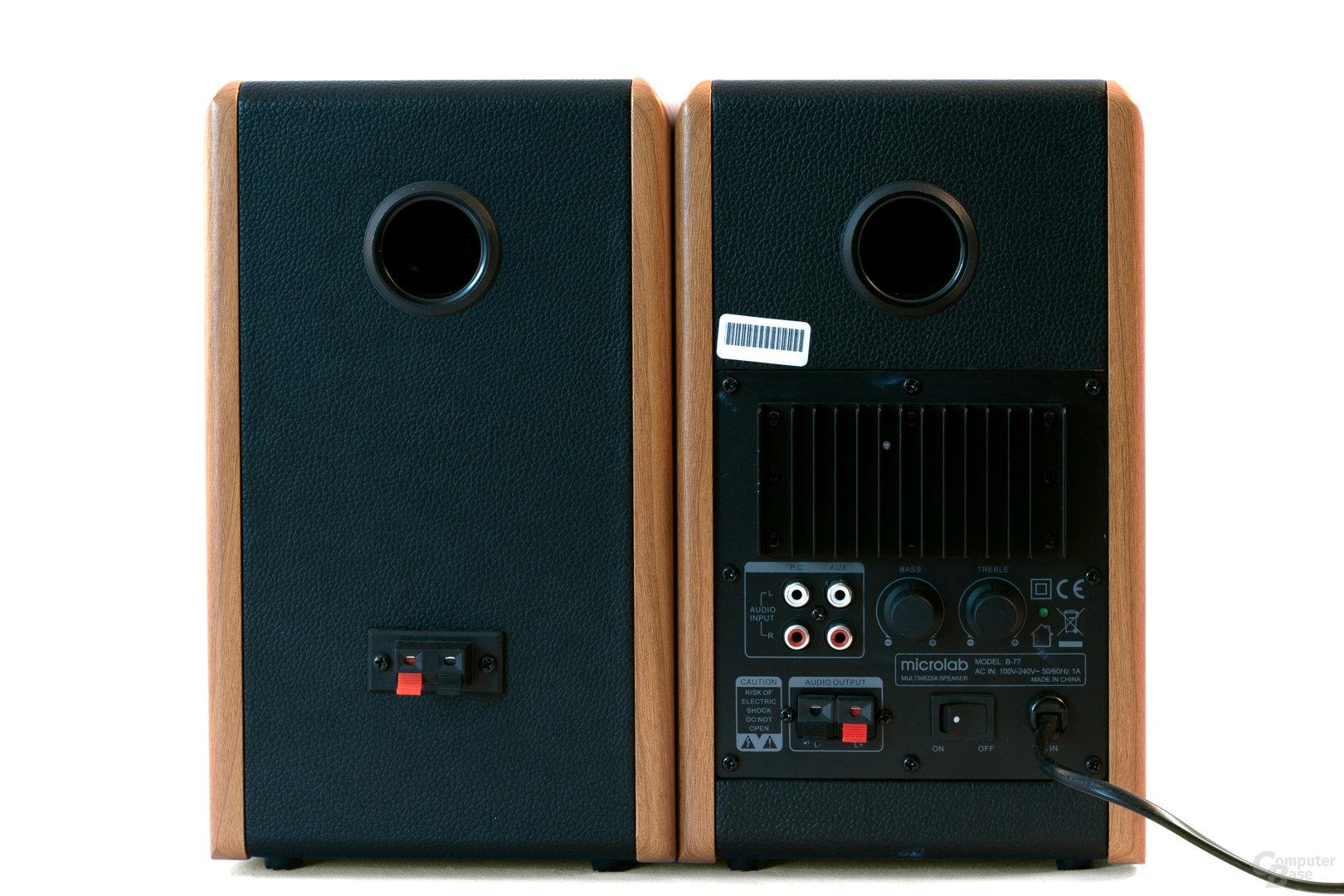 Rückansicht Microlab B77