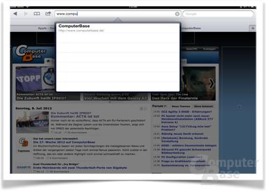 Freie Sicht auf den Inhalt – keine Bildschirmtastatur im Weg.