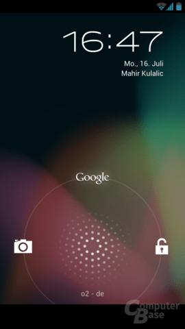Der Sperrbildschirm von Android 4.1.1