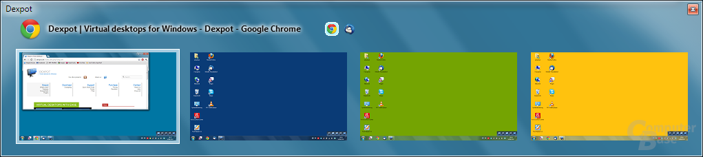 Bedienung – DexTab Desktopwechsler