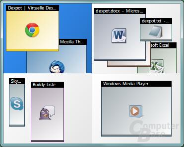 Desktops verwalten – Desktop Vorschau