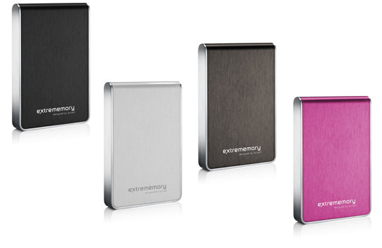 extrememory Portable HDD designed by brinell