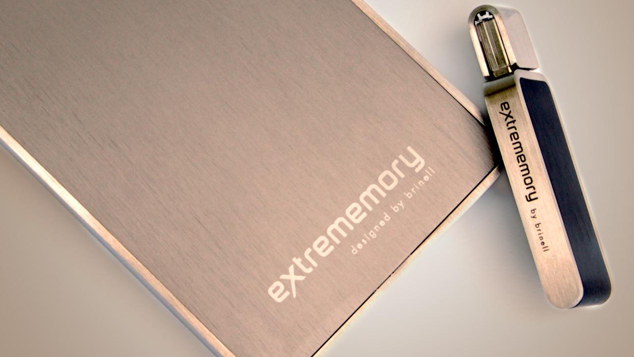 extrememory designed by brinell im Test: Elegante Speichermedien