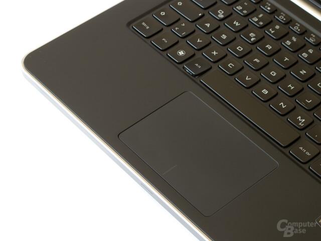 Gläsernes Touchpad mit Silikonbeschichtung