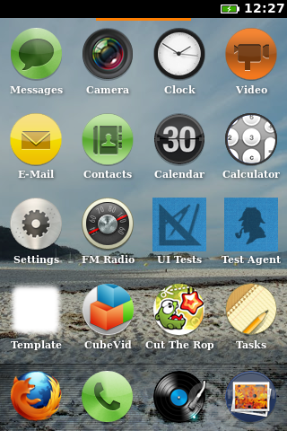 Firefox OS: Home-Bildschirm 1